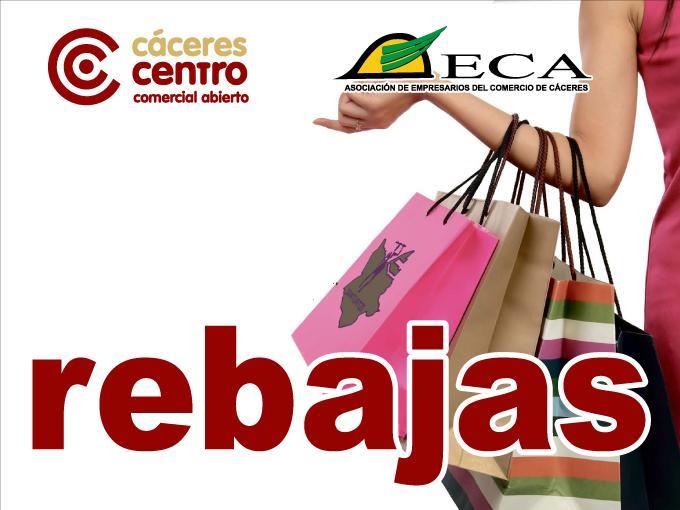 rebajas en los comercios de Cáceres
