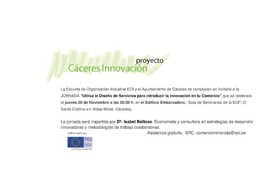 Invitación Taller Diseño Servicios Innovación 17-11-2014
