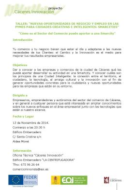 Programa Taller OPORTUNIDADES NEGOCIO SMARCITY