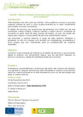 Taller Diseño de Servicios Innovacion 17-11-2014