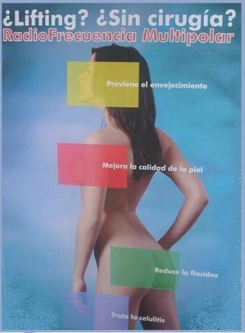 Blanca Fernandez en la calle Parras de Cáceres te ofrece TRATAMIENTO DE RADIOFRECUENCIARADIOFRECUENCIA MULTIPOLAR.Efectividad contra la flacidez facial y corporal.Reafirmación de las zonas corporales Lifting facial sin cirugía.