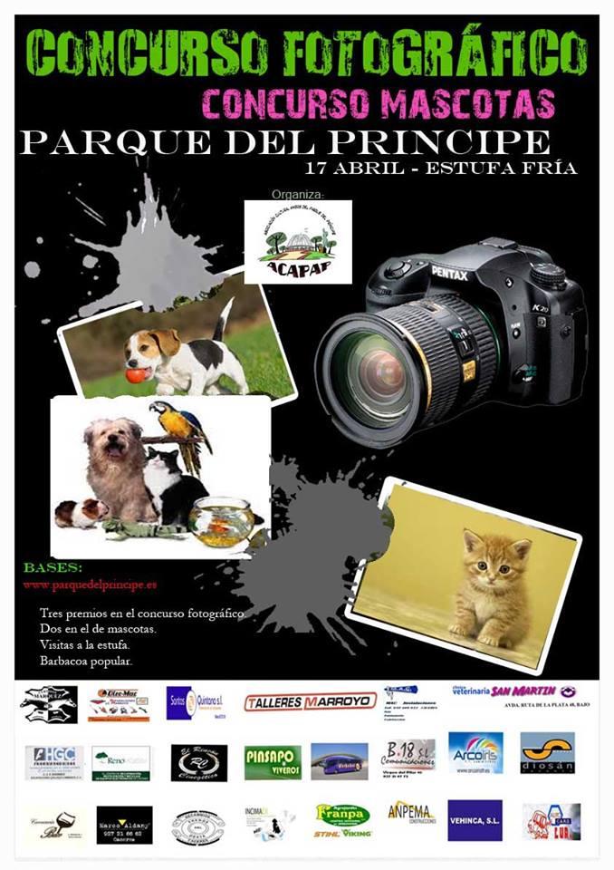 El próximo domingo en el Parque del príncipe una nueva edición del concurso fotográfico y el de mascotas , premios de 150-100 y 50 euros alas tres mejores fotos y de 100 y 50 euros a dos mascotas, tendrán visitas guiadas a la estufa y barbacoa para todos.