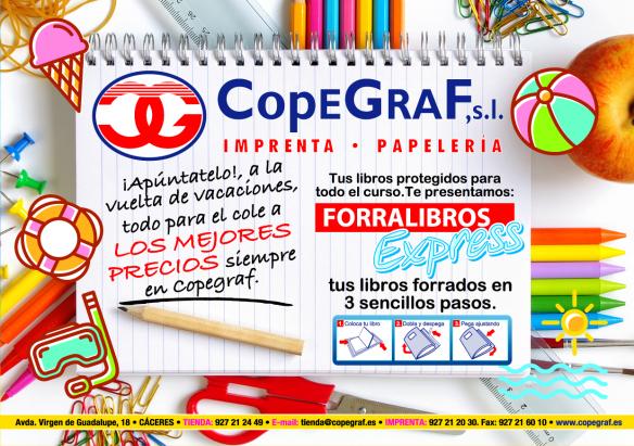 Deja un comentario Copegraf  en las traseras de Avenida Virgen de Guadalupe de Cáceres