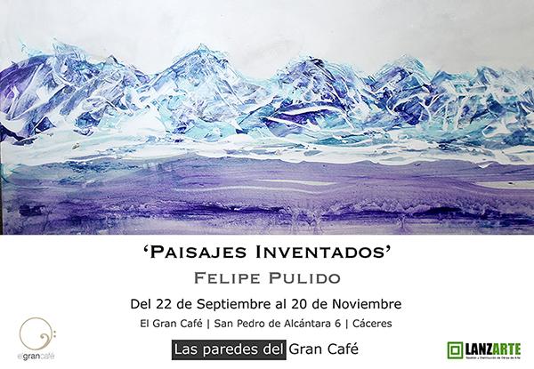 Exposición de felipe Pulido en el Gran café en la Calle San Pedro de Alcántara de Cáceres.