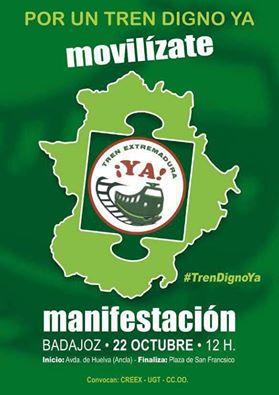La CREEX firmó la pasada primavera con la Junta de Extremadura y los sindicatos CC.OO. y UGT el Pacto Social y Político por el Ferrocarril en Extremadura