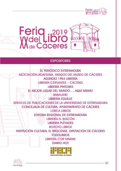 Feria del libro de Cáceres