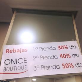 Boutique Onice en Centro Comercial de Cánovas (Avenida de España de Cáceres)
